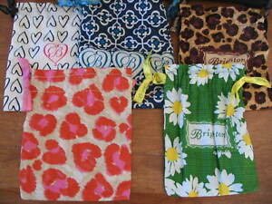 Lot of 5 Brighton Fabric Jewelry Bags Additional Lots Available