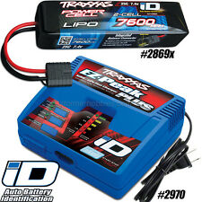 Traxxas Ez-Peak Plus Charger 2970 and 2S 7.4V 7600mAh 25C Lipo Battery 2869x