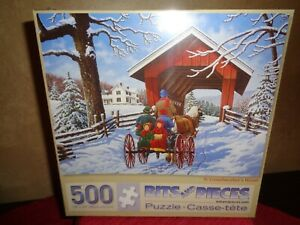 500PC Bits & Pieces Jigsaw Puzzle TO GRANDMOTHER'S HOUSE--SEALED