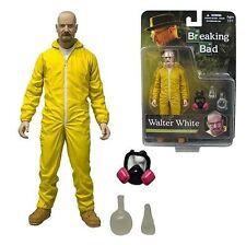 "AMC Breaking Bad Walter White 6"" Yellow Hazmat Suit Meth Action Figure Mezco"