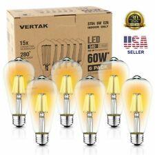 Vintage LED Edison Bulbs 6W Equivalent 60W E26 Retro Home Deco Bulb Light Lamp