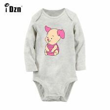 Cute Cartoon Pink Pig Winnie the Pooh Newborn Jumpsuit Baby Rompers Long Sleeve