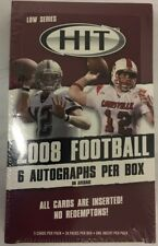 2008 Sage HIT Factory Sealed Low Series Football Hobby Box 6 Autographs