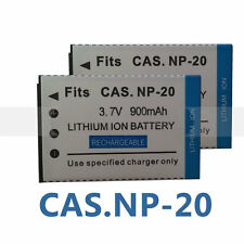 2pack Battery for CASIO NP20 NP-20 Exilim EXZ60 EXZ70 EXZ75 EXZ75 EXZ77 Camera