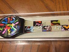 Signed By Kostabi NIB Vintage Swatch Watch Twelve Apostles 1994