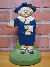 Antique PILGRIM BOY Doorstop Cast Iron Figural Decorative Arts Statue