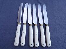 6 couteaux de table vintage modèle ruban manche bakélite