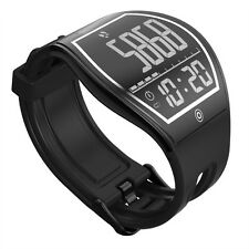 Curved Surface E-ink Bluetooth 4.0 Fitness Tracker Pedometer Sport Smart Watch