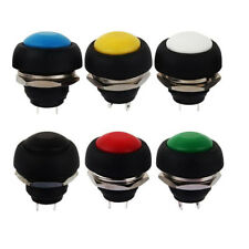 6x Universal 12mm Waterproof  2 PIN Momentary Each color Push Button Horn Switch