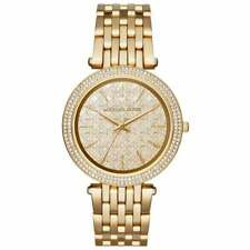 NEW MICHAEL KORS MK3398 LADIES GOLD DARCI WATCH - 2 YEARS WARRANTY