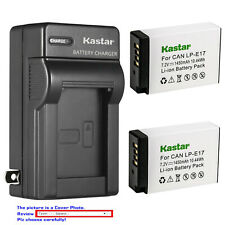 Kastar Battery AC Wall Charger for Canon LPE17 EOS RP Mirrorless Digital Camera
