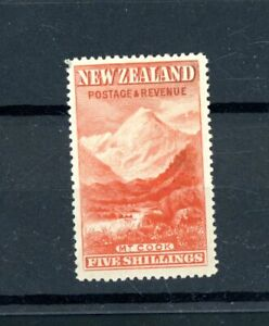 New Zealand Mount Cook  5s Value  L.H.M.      (O553)