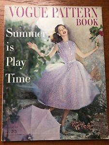 VOGUE MAGAZINE  1957 June July PATTERN BOOK free giftwrap Fast dispatch