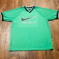 Vintage Nike Soccer Tee Fussball Champion Starter Jersey Rare Green