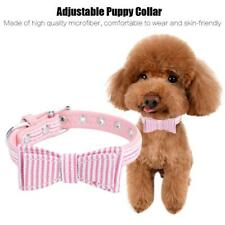 Small Cat Dog Collar with Bow Tie Puppy Necklace Stripe Collars Decoration XS