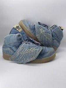 Men's Adidas JS Wings Jeremy Scott Denim V24621 Size 13.5