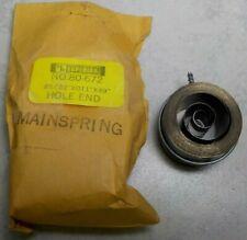 """New listing Superior Clock Mainspring No. 80-672 25/32"""" X 011 X 49"""" Hole End Clockmaker"""