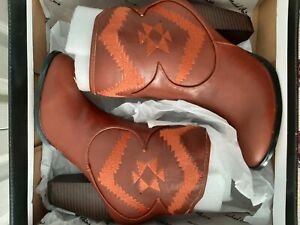 "New - Size 6 Michael Antonio ""Master"" Western Cowgirl Ankle Boots  Cognac Color"