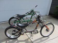 "Pair of Schwinn Stingray Bike Orange County Chopper Black and Green 20"""