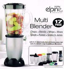 17Pc 250w Bullet Cup Electric Multi Food Blender Grinder Smoothie Processor Silv