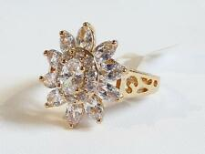 EXCELLENT QUALITY CZ CLUSTER RING - SIZE 8 - GIFT BOXED - FREE UK P&P.....W0463