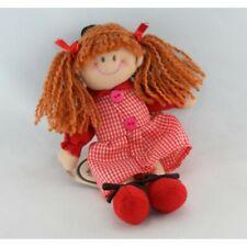 Doudou poupée rouge nattes Maruja FUNNY LAND CRESKO - Poupée - Lutin Classique