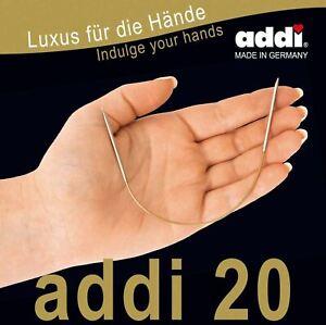 Addi 20 Short Fixed Circular Knitting Needles - 20cm