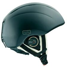 Salomon Matte Black Ski Helmet Womens M SL-3 FOIL Audio Shearling Chin Strap
