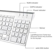 Full Size Slim Wireless Keyboard and Compact Mouse Combo Set for Mac Apple PC