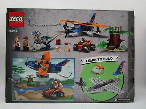 LEGO Jurassic World Velociraptor: Biplane Rescue Mission 75942 Dinosaur Building