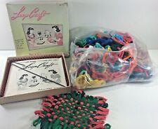 1950's Loop Craft Weaving Metal Loom by Nelly Bee & 100's of Colorful Loops