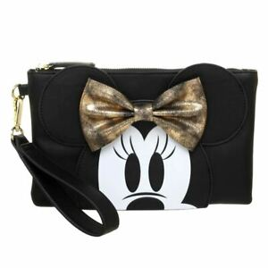 Disney Minnie Mouse Clutch Bag Handbag - Cute Black Evening