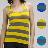 Free Size Women Sleeveless Seamless Sport Stretch Striped Racerback Tank Top