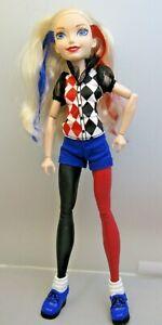 "Mattel DC Comics Super Hero Girls Harley Quinn Doll 12"" Tall Mattel"