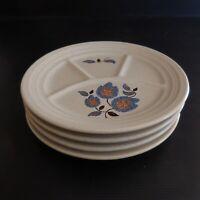 4 assiettes plate céramique faïence Saint Amand Sologne art nouveau France N4220