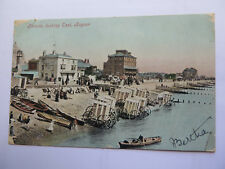 POSTCARD of PARADE LOOKING EAST BOGNOR with MOBILE BATHING SHEDS c1906