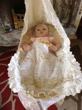 Ashton Drake Doll Lullaby For OLIVIA & Ooak Rocking Cradle By ANNAMAY