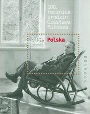 Poland souvenir sheet 2011 100 anniversary of the birth of Czesław Miłosz