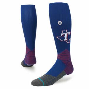 Stance Men Blue OTC On Field Diamond Pro MLB Baseball Texas Rangers Socks 9-12