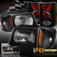 [Black] 1995-2006 Ford Econoline Van E-Series Headlights + Signals + Tail Lights
