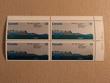 Canada Post Scott 1015 32c St Lawrence Seaway 1959-1984 Mint Nh Plate Block