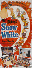 Snow White & the 7 dwarfs #14 cartoon movie poster print