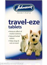 Johnsons travel-eze tablets dog cat travel car sickness kitten puppy jvp natural