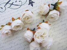 "24 Poly Silk Rose Artificial 1.5"" Flower Floral Craft/wedding/Ivory H299-Cream"