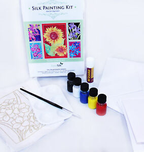 Silkcraft Silk Painting: Cardmaking kit - Sunflower-Makes 5 beautiful Cards
