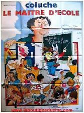 LE MAITRE D'ECOLE Affiche Cinéma / French Movie Poster COLUCHE
