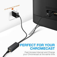 Ethernet Adapter Micro USB to RJ45 Network For Chromecast TV Stick 480Mbps US
