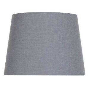 10 inch DIA Dark Grey Cotton Blend Accent Lamp Shade
