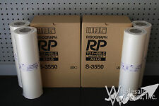 4 Genuine Riso Brand S-3550 Master Rolls Risograph RP 3700 RP 3790 OEM NIB RP08