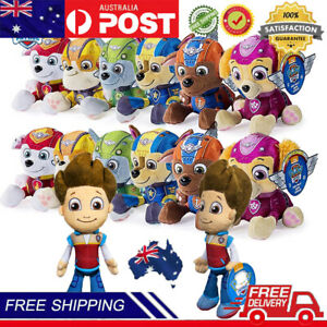 PAW Patrol Toy Ryder Plush Pups Dog Soft Stuffed Toy Chase Ryder Rubble Full Set